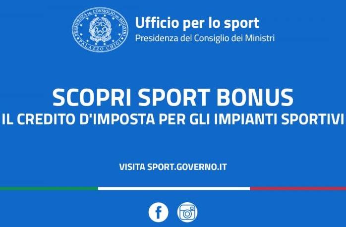 Sport bonus per l'anno 2020 - comunicazioni