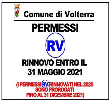 Rinnovo permessi RV