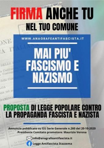 Proposta di legge contro la propaganda fascista