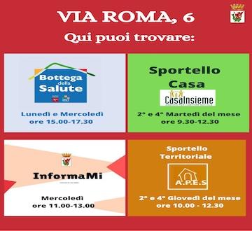 Servizi per la cittadinanza - Via Roma 6