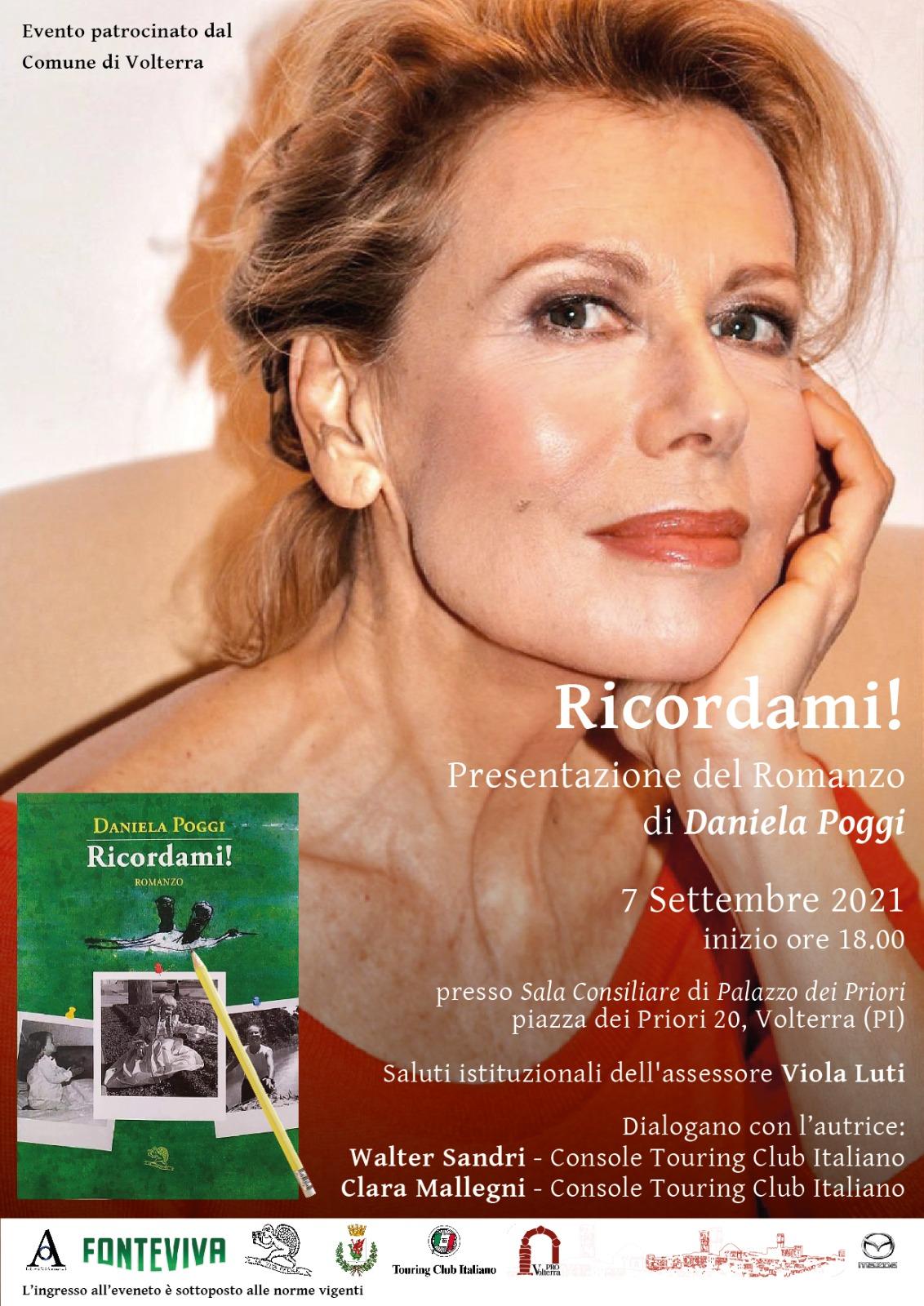 Daniela Poggi a Volterra per presentare il suo libro