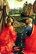 Particolare del dipinto di Cristo in Gloria di Domenico Ghirlandaio