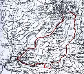 Cartina versante meridionale