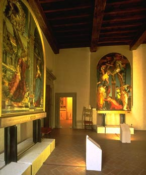 Foto di una sala della Pinacoteca