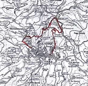 Cartina del percorso: le valli settentrionali