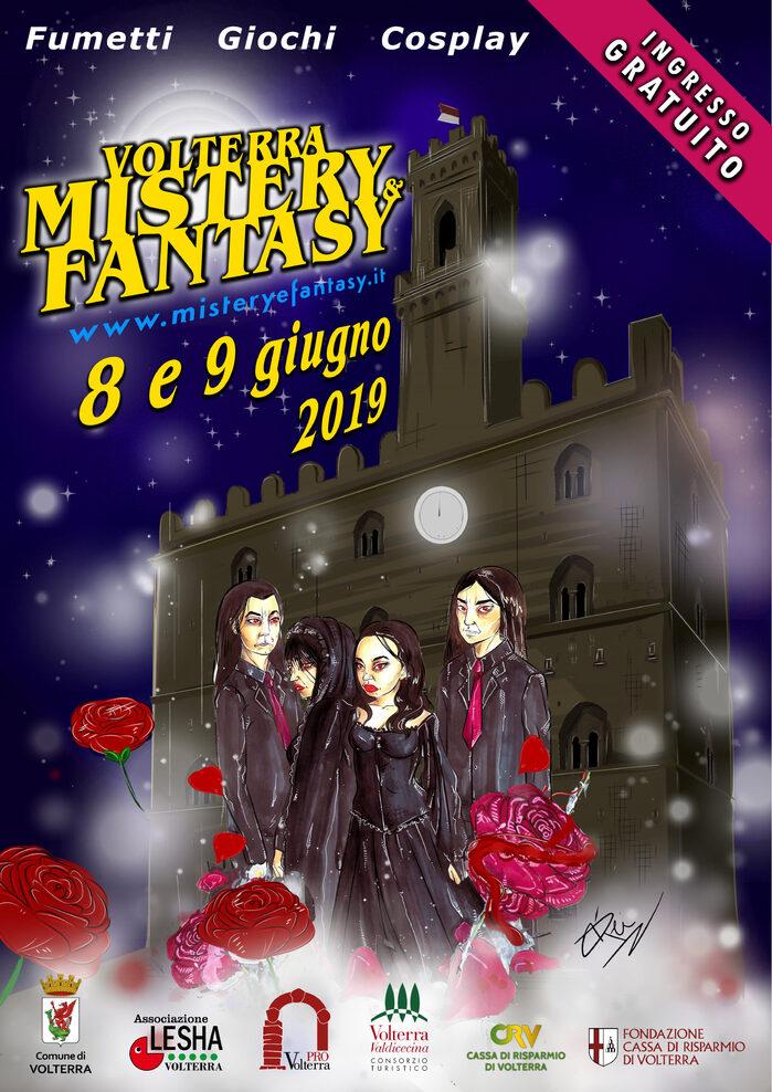 Locandina della manifestazione Volterra Mistery and Fantasy