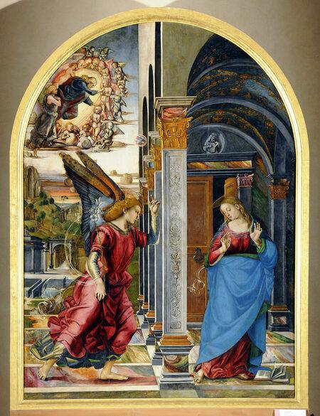 Foto del famoso dipinto del Rosso Fiorentino: la Deposizione della croce